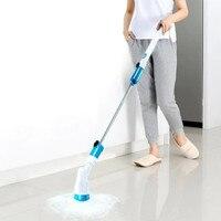 อ่างกระเบื้องไร้สายทำความสะอาดแปรงทำความสะอาดในครัวเรือน