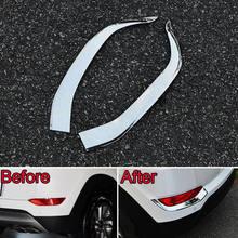 BBQ @ FUKA Chrome ABS tylne światło przeciwmgielne taśmy wykończenia zewnętrzne stylowe naklejki pasujące do Hyundai Tucson 2015 2016