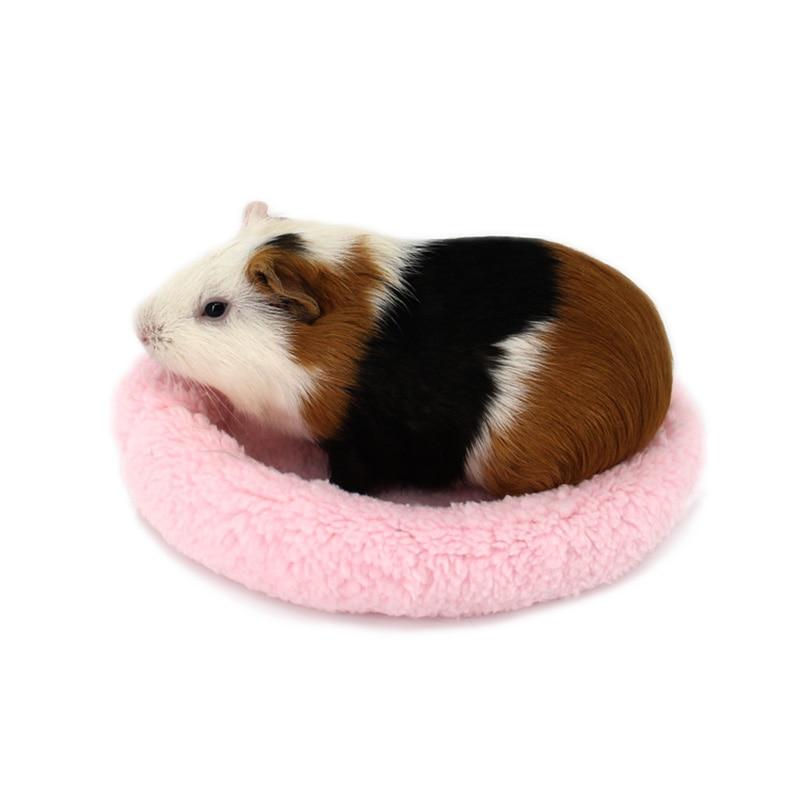 Traumdeutung Hamster Guinea Pig Bed Hedgehog Round Soft Fleece Winter Warm Animals Rabbit Chinchilla Mat Small Pet Accessories
