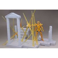 Original D.D.PANORAMATION/DDP Anime Saint Seiya Action Figure Myth Cloth Leo Aioria Aiolia With the Scene Collectible Model toy