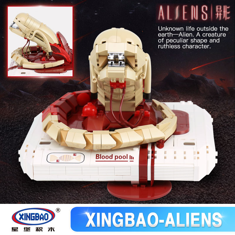 Xingbao 04002 830Pcs Genuine Creative Movie MOC Series The New Alien Set Children legoinglys Building Blocks Bricks Toys Model [100%] the new imported genuine 6mbp50rh060 01 6mbp50rta060 01 billing