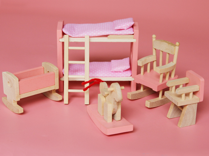 Leuke Stoel Slaapkamer : Leuke miniatuur hout poppenhuis meubels pop slaapkamer meubels set