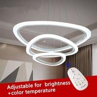 Modern Led Lustre Chandelier Light Luxury Ring For Living Room Chandelier Lighting Brightness Adjustable Chandeliers Lamp