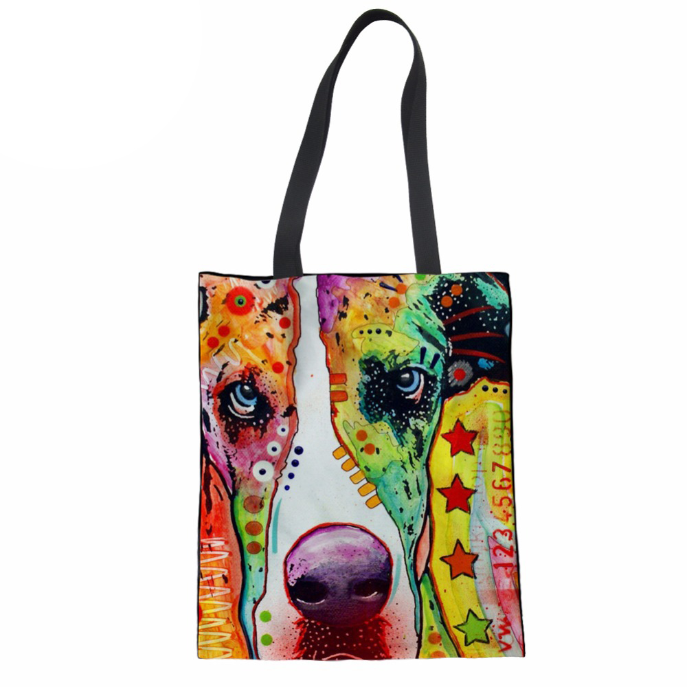NoisydesignsWomen Handbags Personality Coth Bag Colored Drawing Ladies Handbags Teenager Girls Shopping Bag Female Beach Bag