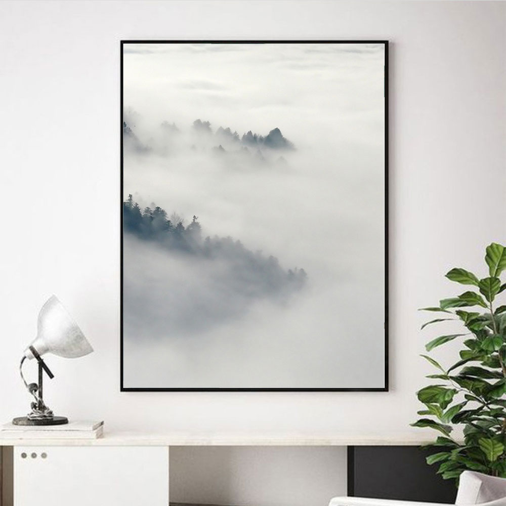 Nordic Decoration Forest Mountain Sea Landscape Wall Art Canvas Painting Posters and Prints Wall Picture for Living Room Decor in Painting Calligraphy from Home Garden