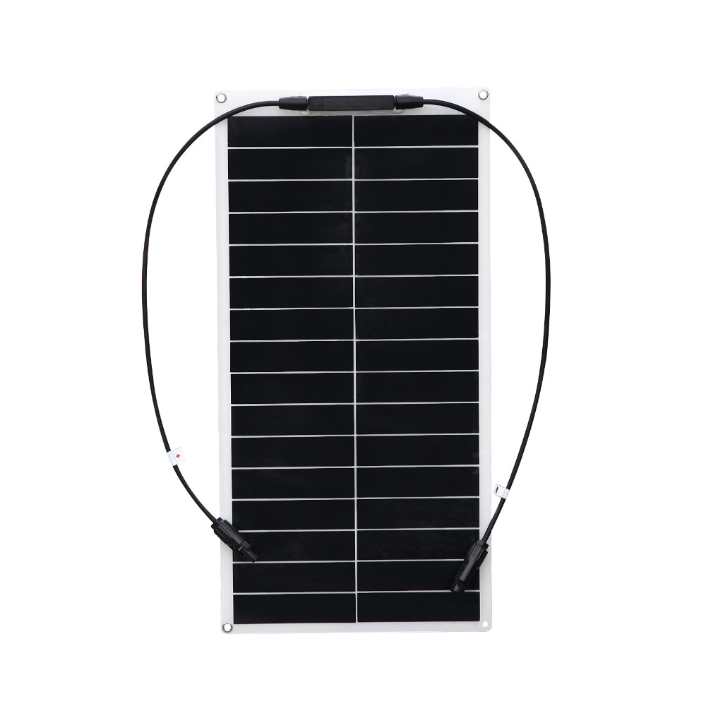 Solarparts 2pcs 25w flexible solar panel solar cell  module for car /yacht/RV/LED light 12V battery ourdoor charger 200w 2x100w mono flexible solar panel solar module energy roof camper rv yacht solar generators