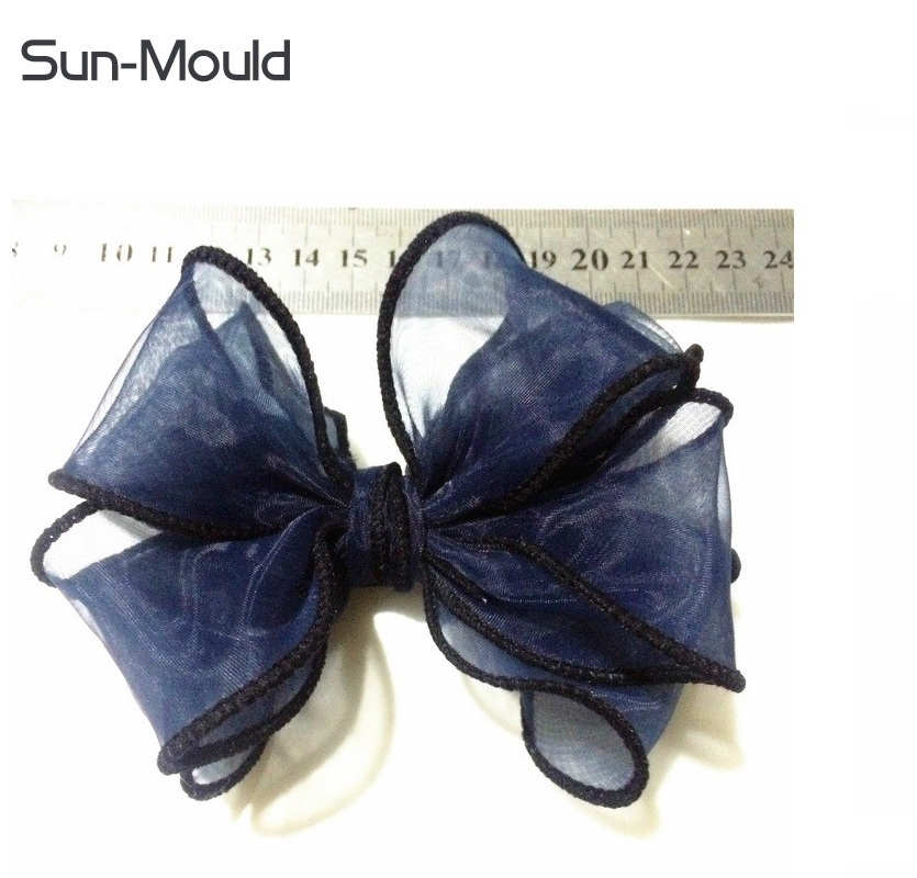 Custom Organza flower bowtie shoes bag dress clothing costume hat hair material accessories decoration 12cm bowties 500pcs/lot high quality authentic famous polo golf double clothing bag men travel golf shoes bag custom handbag large capacity45 26 34 cm