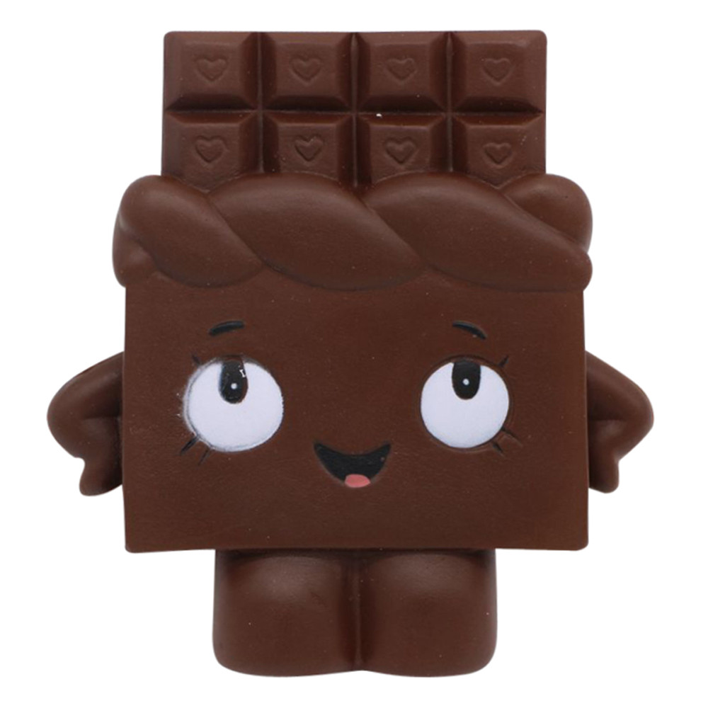 Drop shipping 2018 New arrival Squishy Chocolate Toast Scented Charm Slow Rising Squeeze Stress Reliever Toy oyuncak