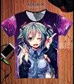 2016 Roupas Camiseta Anime Japonês Hatsune Miku Famosa Animação Novidade Verão T-shirt dos homens de Roupas Traje Cosplay