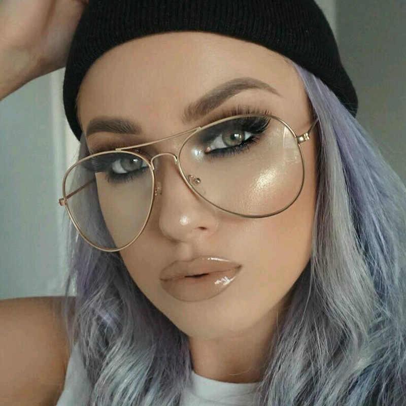 354ddc9248e7 ... Gold Clear Glasses Myopia Clear Frame Glasses Women Eyewear Men  Spectacle Frame Clear Lens Optical Aviator ...
