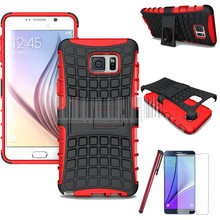 Heavy Duty Protective Hard Armor Cover Hybrid Case With FILM Screen Protector+STYLUS For Samsung Galaxy Note 5