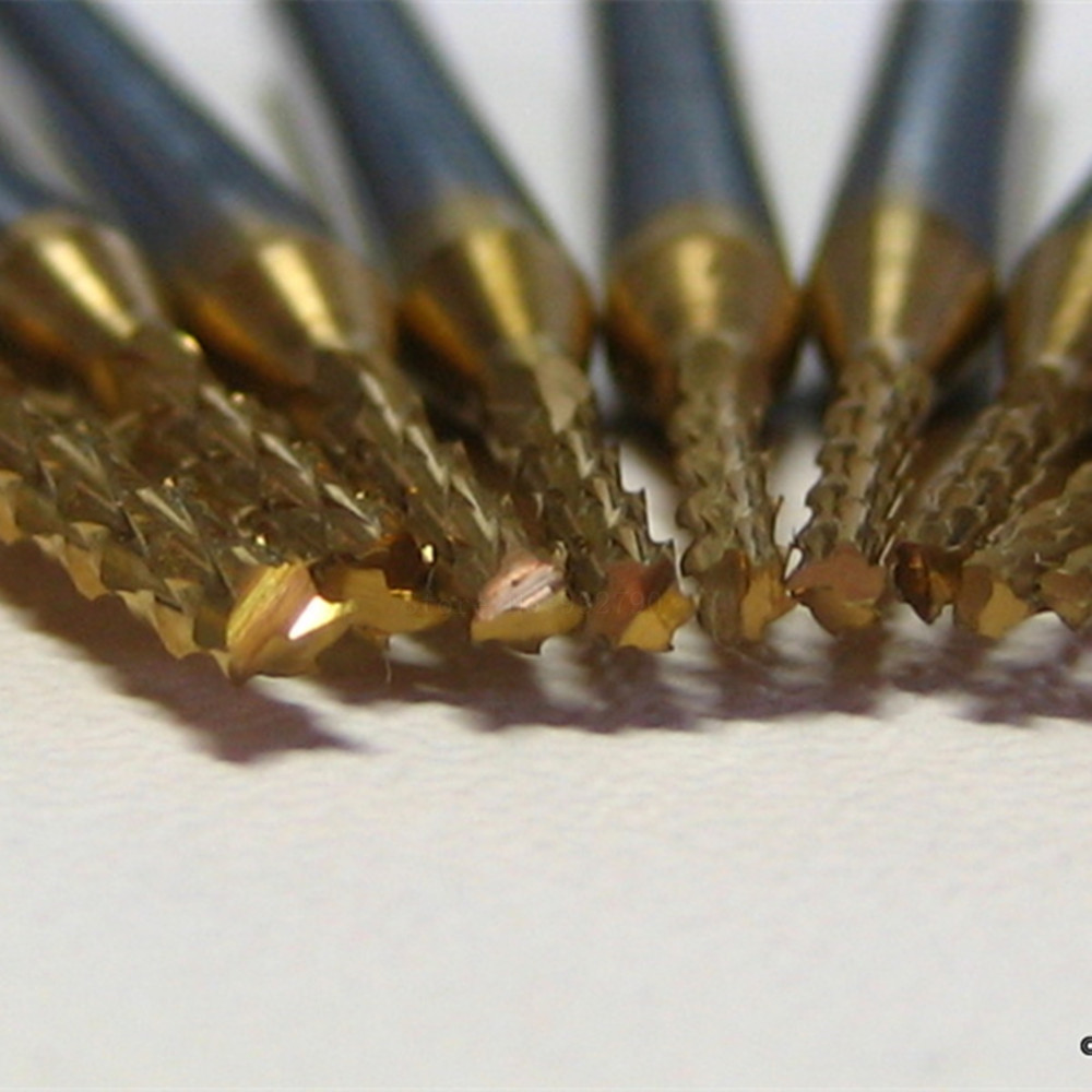 0.8-2.0mm Tungsten Carbide End Mill Engraving Bits CNC Milling Cutter PCB Drill Bits Rotary Burrs