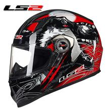 new authentic LS2 FF358 High quality full face motorcycle helmet mens racing moto helmets ECE capacete casqueiro casque no pump
