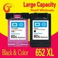 2PK Для HP 652 XL Чернильные Картриджи Для HP 652 DeskJet ink advantage 1115 2135 3635 1118 2138 3636 3638 принтер