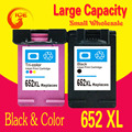 2PK For HP 652 XL Ink Cartridges For HP 652 DeskJet ink advantage 1115 2135 3635 1118 2138 3636 3638 printer