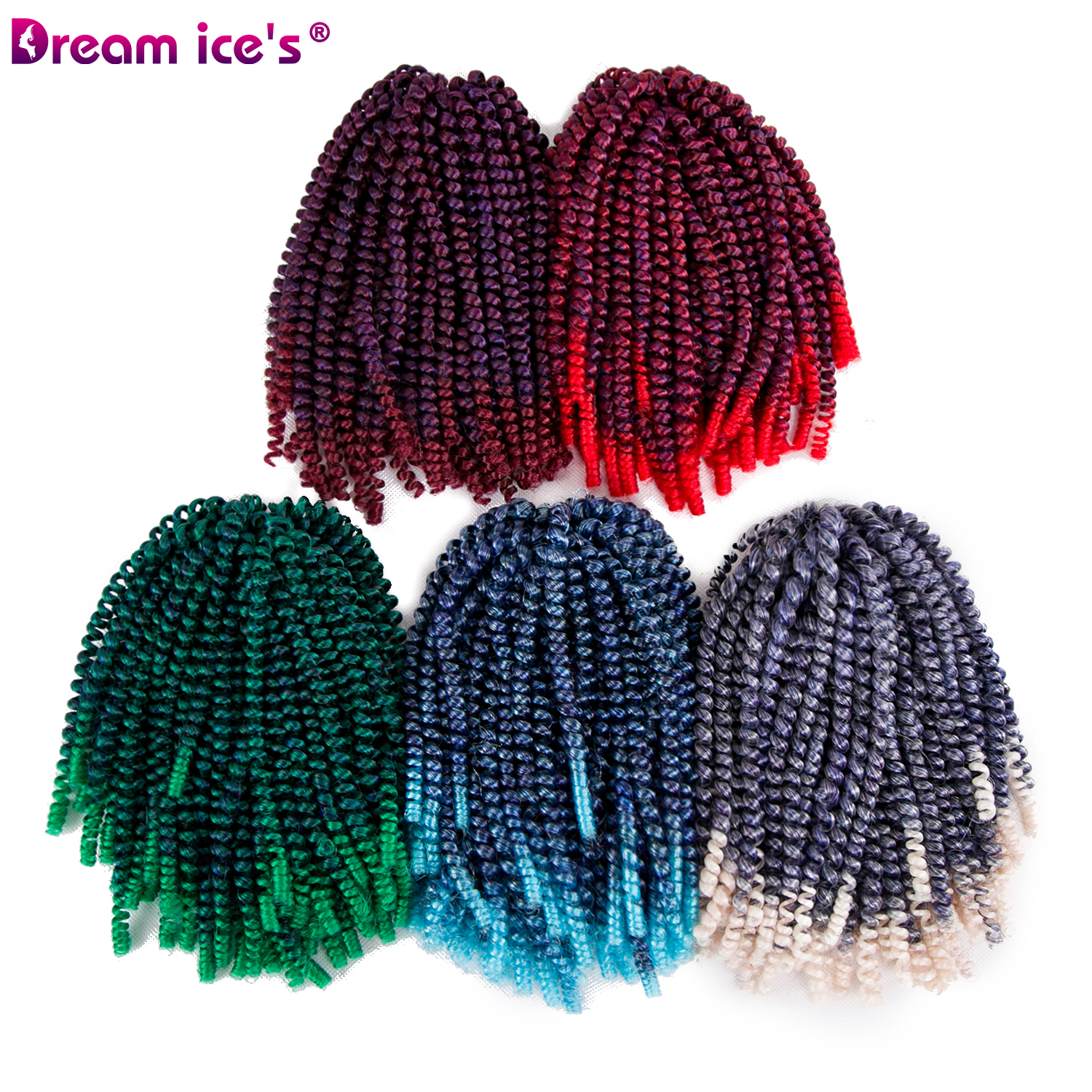 synthetic ombre spring twist crochet braids hair extension. Black Bedroom Furniture Sets. Home Design Ideas