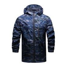 Новые поступления Весна и осень Для мужчин бренд с капюшоном спортивная куртка ветровка мужская куртка на молнии тонкие повседневные Пальто и пуховики