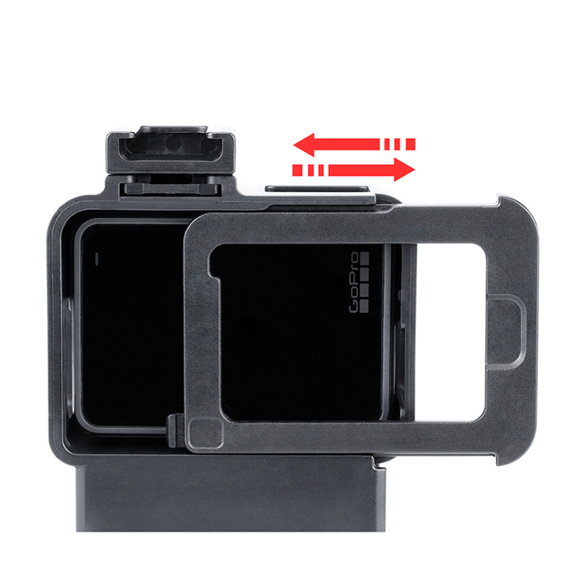 ULANZI V2 Vlog Case Accessories for GoPro Hero 7 6 5 Plastic Housing with Extend Microphone Port Cold Shoe Mount Vlogging