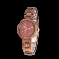 REDEAR Top Brand Walnut Wood Watch Women Watches Unique Fashion Women's Watches Wooden Women's Watches Clock saat montre femme