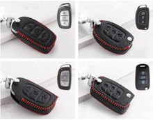 1pc Auto Key Packages Man Key Bags Real Leather Key Cases for Hyundai IX35 Mistra Verna IX25 Elantra Sonata Santafe