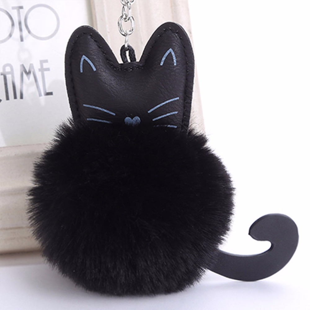 THINKTHENDO Fur Fluffy Cat Bag Handbag Car Pendant Accessories Decoration Parts Charm New 4 Color Fashion ArtificialTHINKTHENDO Fur Fluffy Cat Bag Handbag Car Pendant Accessories Decoration Parts Charm New 4 Color Fashion Artificial