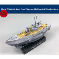 Meng WB 003 Warship Builder U boat Type VII Q Edition Plastic Assembly Model Kit Cute & Wooden Deck