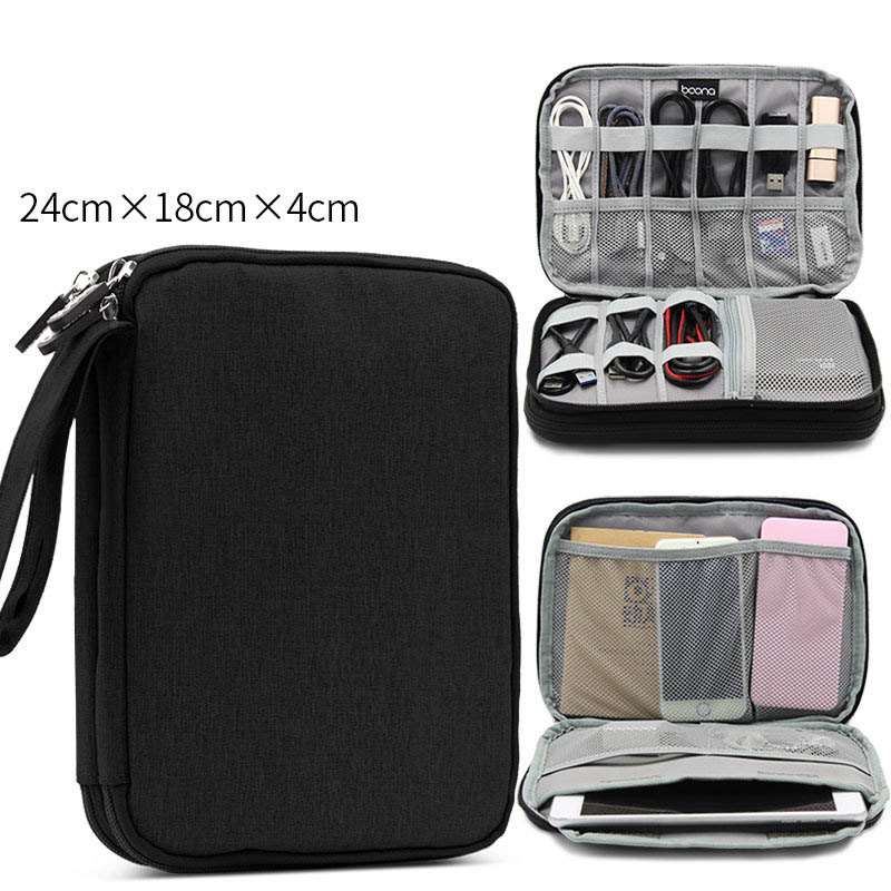 Data Line Stored Bag Gadget Organizer Digital Storage Bag Electronics  Organizer Chargers Cables Hard Drive IPad Protection Pouch In Storage Bags  From Home ...
