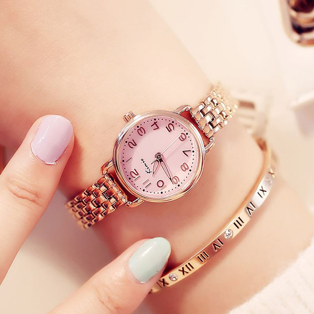 KIMIO Women Bracelet Watches Luxury Fine Stainless Steel Ladies Watch Rose Gold