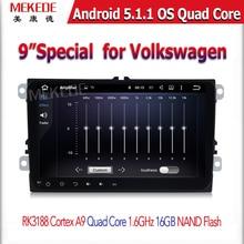 Android 5.1.1 2 DIN Car GPS Navigator for VW skoda Passat B6 / B7 / B5/ CC/T5 T 5 /sharan/touran/polo with WiFi Radio