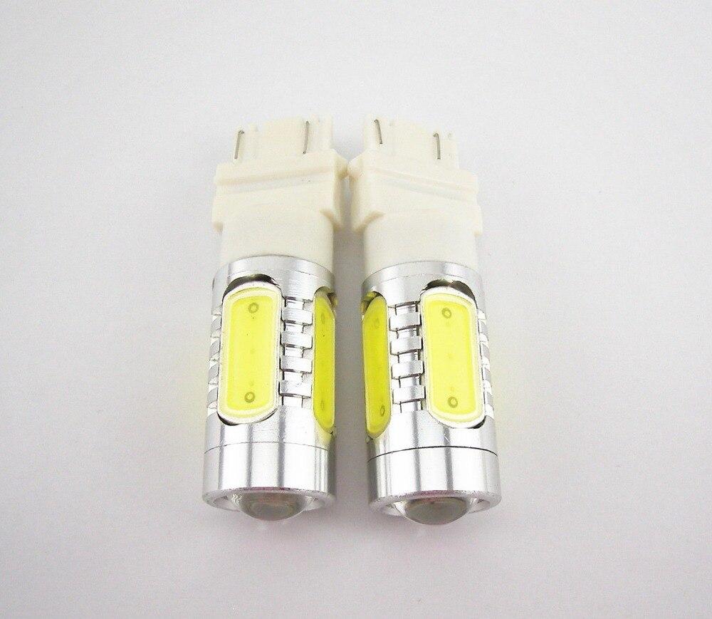 1Pcs 3157 Xenon White 7.5W LED Reverse Backup Plasma Projector DRL Light Bulbs