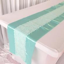 Tiffany кружевной настольный бегун кружева мятного, зеленого цвета атласный настольный бегун