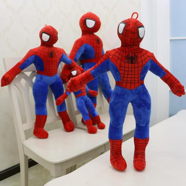 Anime Brinquedos 40/60 cm Spiderman Homem Aranha Boneca Macia Stuffed Animal Plush Toy Para O Bebê Meninas Crianças Amante crianças Presente de Aniversário