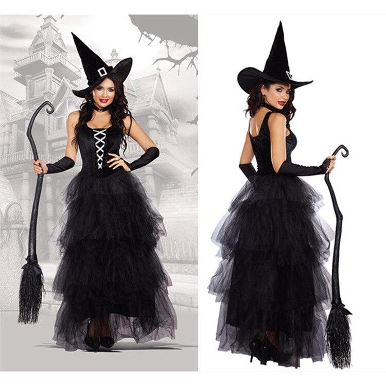 Halloween Strega Sexy Costumi Adulto Donne Queen di Carnevale Del Partito di Cosplay del Vestito Operato