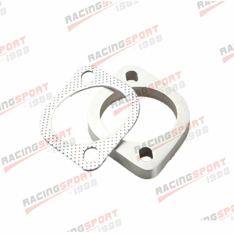 """A Set Of 2.25/"""" 2-Bolt Exhaust Flange And Exhaust Gasket For 2 Bolt Flange US"""