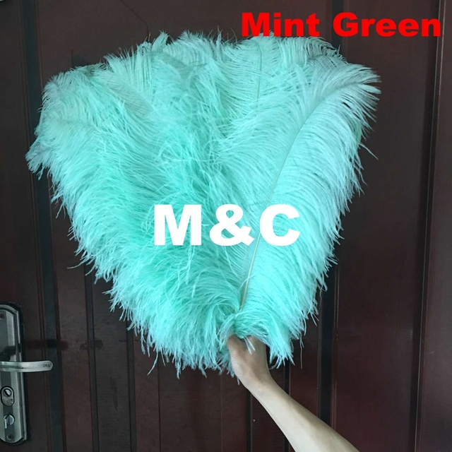 60pcs Lot Natural Mint Green Ostrich Feather 55 60cm Colorful Decoration Wedding Diy Feathers
