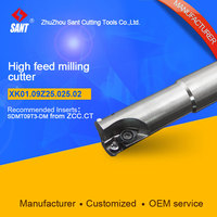 Suggested XMR01 025 G25 SD09 02 Indexable Milling cutter SANT XK01.09Z25.025.02 with SDMT09T3 DM carbide insert