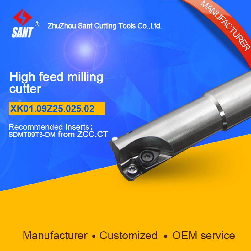 Suggested ZCCCT XMR01-025-G25-SD09-02  Indexable Milling cutter SANT XK01.09Z25.025.02 with SDMT09T3-DM carbide insert for ZCC  цены