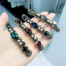 Colorful Crystal Handmade  Hair Accessories For Girls Pearl Diamond Bows Rim Hairpin Clips Barrette