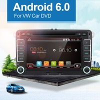 Android 4 4 2Din 7 Inch Car DVD Player For VW GOLF 5 6 POLO PASSAT