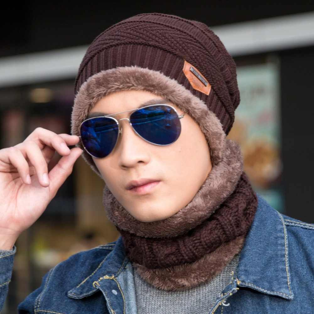 398cc012f78 Detail Feedback Questions about New Fashion Hats Men Winter Wool Ski Hat  scarf Set Head hooded Cap Earmuffs Head Caps Male beanie mask gorro  masculino on ...
