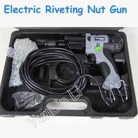 220 В Электрический клепальный пистолет клепальные Инструменты Электрический пневматический клепальный молоток с английским руководством