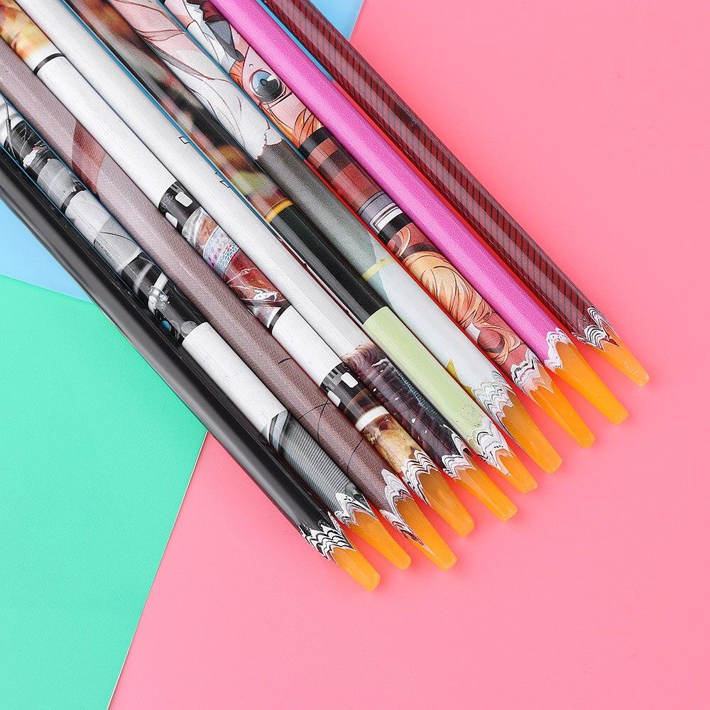 1 шт. новые модные женские DIY легко собирающие деревянные Вощеные ручки для ногтей, стразы для выбора очаровательных ногтей, инструменты для дизайна ногтей, красота