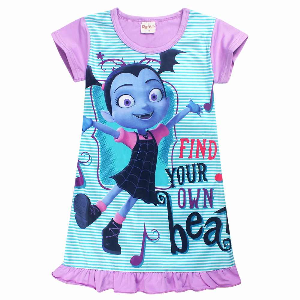 ac88c8c5a73 Summer cartoon baby Dresses for Girls Vampirina Clothing Kids Princess  Birthday Party dress cotton Kids Clothes Dress Vestido