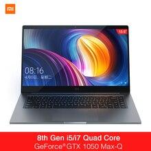 Ноутбук xaomi Mi notebook Pro 15,6 дюймов GTX 1050 Max-Q Intel Core i7 16G/i5 8G cpu NVIDIA 4 ГБ GDDR5 ноутбук с отпечатком пальца Windows 10
