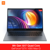 Xaomi Mi Notebook Pro 15.6 Inch GTX 1050 Max Q Intel Core i7 16G/i5 8G CPU NVIDIA 4GB GDDR5 Laptop Fingerprint Windows 10