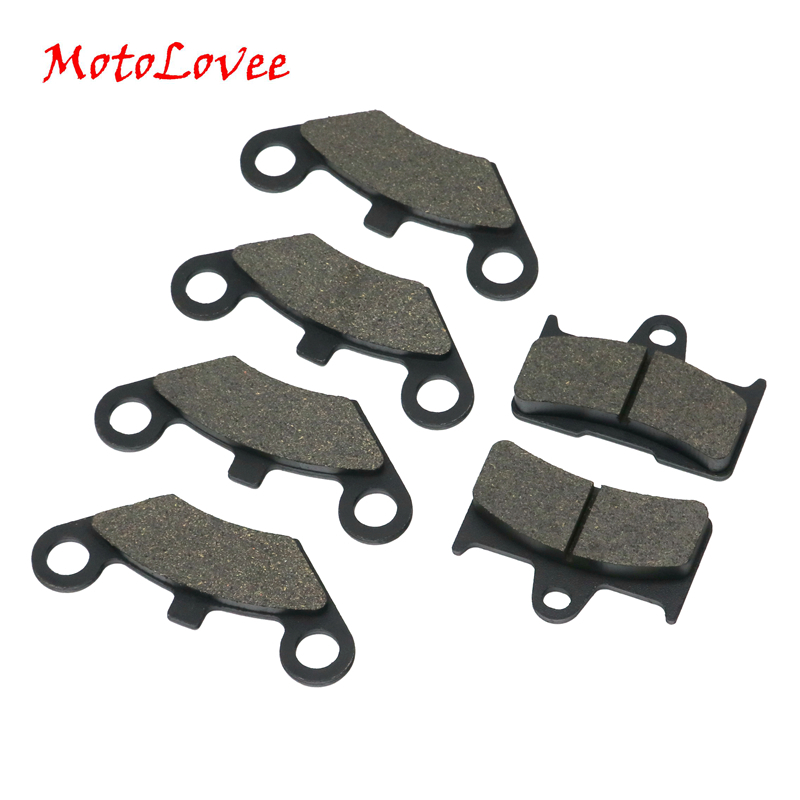 MotoLovee ATV Front 4pcs+Rear 2pcs Semi Metallic Brake Pad Disc Brakes 6 Pieces For CF Moto CF500 500CC CF 600 600CC X5 X6 X8 U5(China)