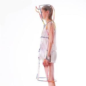 Image 4 - EVA 透明レインコート明確なフード付きレインウェア女性のレインコート屋外防水レインコートユニセックス女性レインコート
