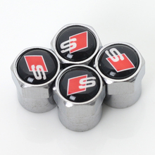 Car tire Valve Caps fit for A1 A3 audi A4 A5 A7 A8 Q3 Q5 Q7 badge Accessories car-styling