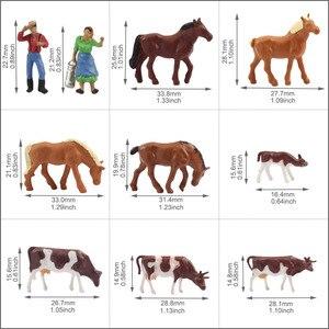 Image 5 - 36 adet 1: 87 minyatür iyi boyalı Model atlar İnekler modeli rakamlar çiftlik manzara manzara düzeni hayvanlar AN8707