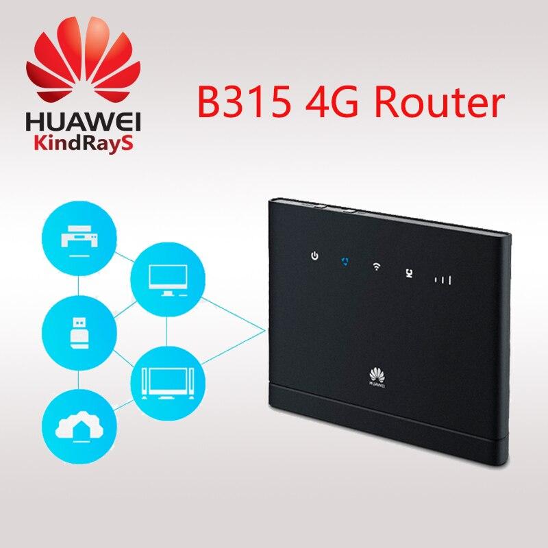 Livraison gratuite Débloqué HUAWEI B315 B315S-22 LTE CPE 150 Mbps 4G LTE FDD TDD sans fil passerelle Routeur wifi PK B310 B593 E5186